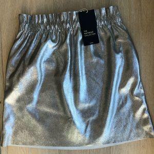 Zara Metallic Mini Skirt